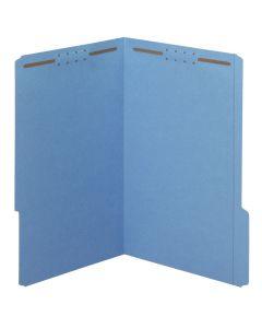 Fastener Folders, Blue, 2-fastener, Legal, 1/3 Tab, 50/BX