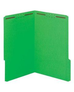 Fastener Folders, Green, 2-fastener, Legal, 1/3 Tab, 50/BX