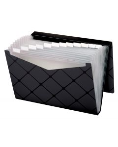 13 Pocket File, Letter Size, Black