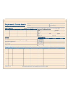 Employee Record Master File, Manila Tag, 20 EA/PK