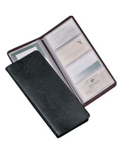 Sewn 96 Card File, Black