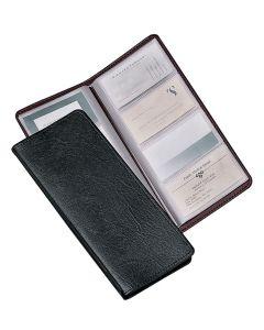 Sewn 96 Card File, Black
