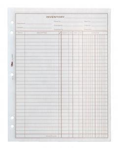 "TOPS Inventory Sheet Book, 8-1/2"" x 11"", 100 Sheets, 2PDS/PK"