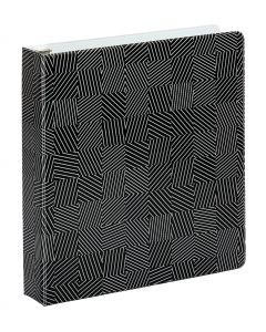 "Oxford® Labyrinth Binders, 1.5"" Back-mounted Round Ring Binder, Black"