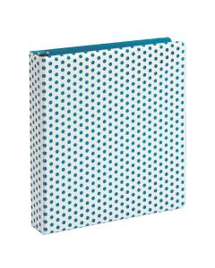 "Oxford® Punch Pop Binder, 1.5"" Round Rings, Holds 350 Sheets, Teal"