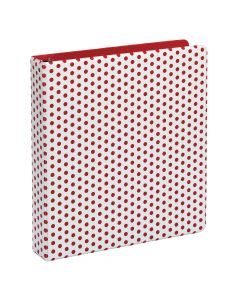 "Oxford® Punch Pop Binder, 1.5"" Round Rings, Holds 350 Sheets, Berry"