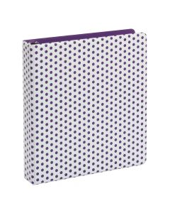 "Oxford® Punch Pop Binder, 1.5"" Round Rings, Holds 350 Sheets, Purple"