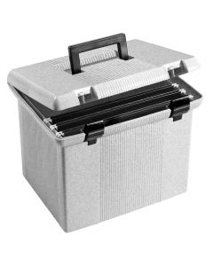 "Pendaflex® Portable File Box, 11""H x 14"" W x 11 1/8"" D, Granite"
