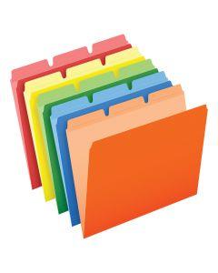 Pendaflex® Ready-Tab™ Reinforced File Folders, Letter Size, Assorted Colors, 1/3 Cut, 50/BX