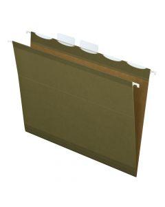 Pendaflex® Ready-Tab™ Reinforced Hanging Folders, Letter Size, Standard Green, 5 Tab, 25/BX