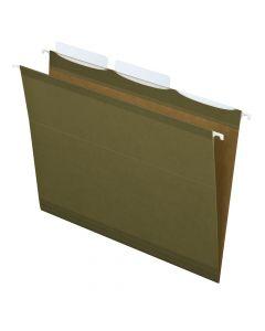 Pendaflex® Ready-Tab™ Reinforced Hanging Folders, Letter Size, Standard Green, 3 Tab 25/BX