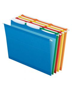 Pendaflex® Ready-Tab™ Reinforced Hanging Folders, Letter Size, 3 Tab, Assorted Colors, 25/BX