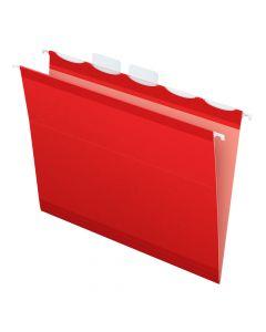 Pendaflex® Ready-Tab™ Reinforced Hanging Folders, Letter Size, Red, 5 Tab, 25/BX