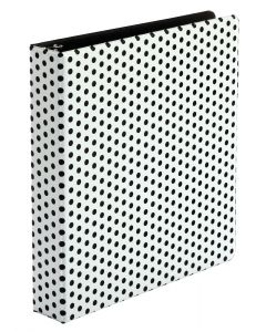 "Oxford® Punch Pop Binders, 1.5"" Back-mounted Round Ring Binder, Black, 6/PDQ"
