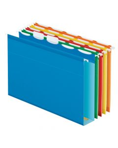 Pendaflex® Ready-Tab™ Extra Capacity Reinforced Hanging Folders, Letter Size, Assorted Colors, 5 Tab, 20/BX