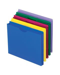 Pendaflex® Translucent Poly File Jackets, Letter Size, Assorted Colors, 10/Pack