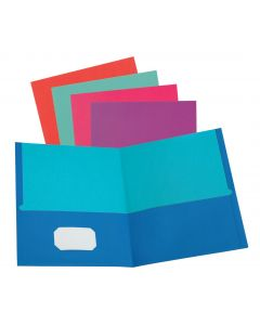 Twisted Twin Pocket Folders, Letter Size, Assorted