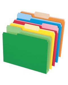 Pendaflex® Double Stuff® File Folders, Letter Size, Assorted Color, 1/3 Cut, 50/BX