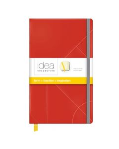 """Oxford® Idea Collective® Medium Hardcover Journal, 5"""" x 8-1/4"""", Legal Rule, Red Embossed Cover, 120 Sheets"""