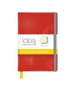 "Idea Collective® Mini Hardcover Journal, 5-1/2"" x 3-1/2"", Wide Rule, Red Cover, PDQ, 96 SH/BK"
