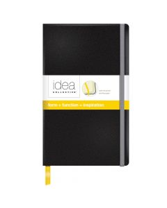 "Idea Collective® Medium Hardcover Journal, 8-1/4"" x 5"", Wide Rule, Black Cover, 120 SH/BK"