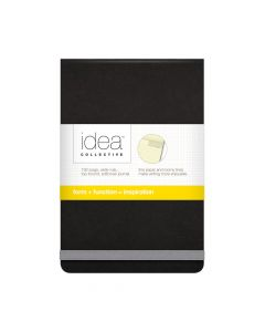 "Oxford® Idea Collective® Top-Bound Mini Softcover Journal, 3-1/2"" x 5-1/2"", Legal Rule, Black Cover, 96 Sheets"