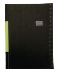 Oxford® Idea Collective Business Notebook,11 3/4 x 8 1/4, Case Bound - Black, 80 sheets, 9 BK/CTN