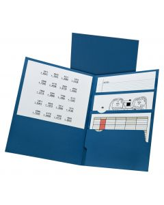 Oxford® Divide It Up™ 4 Pocket Portfolio, Paper, Midnight Blue, 20 Pack