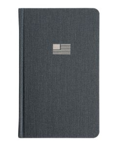 "Oxford® USA Hardcover Journal, 5"" x 8"", Ruled, Gray, 192 Pages, 12 BK/CTN"