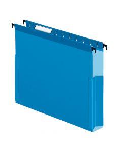 "Pendaflex® SureHook® Reinforced Hanging Box File, 2"", Letter, Blue, 1/5 Cut, 25/BX"