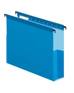 "Pendaflex® SureHook® Reinforced Hanging Box File, 3"", Letter, Blue, 1/5 Cut, 25/BX"