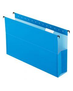 "Pendaflex® SureHook® Reinforced Hanging Box File, 3"", Legal, Blue, 1/5 Cut, 25/BX"