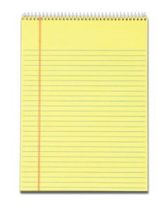 "Docket™ Writing Tablet, 8-1/2"" x 11-3/4"", Wirebound, Canary, Legal/Wide Rule, 70 SH/PD, 3 PD/PK"