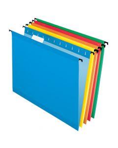 Pendaflex® SureHook® Reinforced Hanging Folders, Letter Size, Assorted Colors, 1/5 Cut, 20/BX