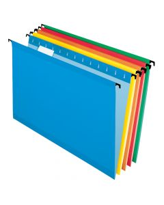 Pendaflex® SureHook® Reinforced Hanging Folders, Legal Size, Assorted Colors, 1/5 Cut, 20/BX