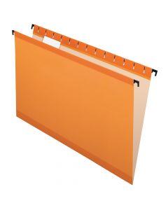 Pendaflex® SureHook® Reinforced Hanging Folders, Legal Size, Orange, 1/5 Cut, 20 Per box