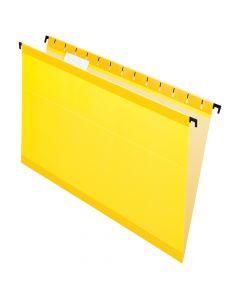 Pendaflex® SureHook® Reinforced Hanging Folders, Legal Size, Yellow, 1/5 Cut, 20/BX