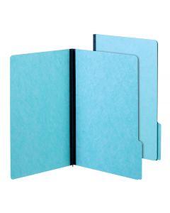 "Pendaflex® Pressboard Folders, 100% Recycled, 2"" Exp., 1/3 Cut Tabs, Light Blue, Legal, 25/BX, 5 BX/CT"