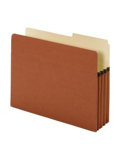 "Pendaflex® Pockets, Standard, 3.5"" Exp., Brown, Letter, 25/BX, 4 BX/CT"