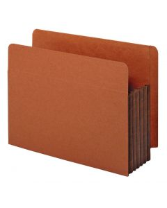 "Pendaflex® Pockets, End Tab, Tyvek, 3.5"" Exp., Legal, Straight Cut Tabs, Dark Brown, 25/BX, 4 BX/CT"