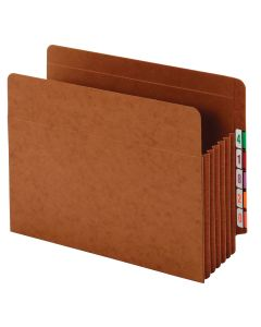 "Pendaflex® Pockets, End Tab, Heavy Duty, 7"" Exp., Letter, Straight Cut Tabs, Brown, 5/BX, 5 BX/CT"