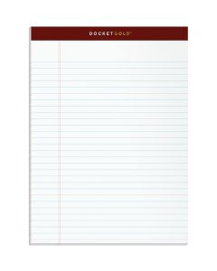 """TOPS™ Docket Gold™ Writing Pads, 8-1/2"""" x 11-3/4"""", Legal Rule, 50 Sheets, 12 Pack"""