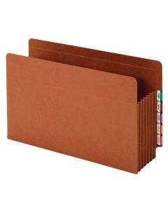 "Pendaflex® Pockets, End Tab, Heavy Duty, 7"" Exp., Legal, Straight Cut Tabs, Brown, 5/BX, 5 BX/CT"