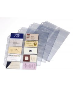 Poly Business Card Refill Page, 10/PK