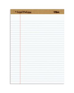 """TOPS™ The Legal Pad Plus Writing Pads, 8-1/2"""" x 11-3/4"""", Legal Rule, 50 Sheets, 12 Pack"""
