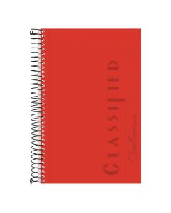 "TOPS™ Poly Notebook, 5-1/2"" x 8-1/2"", Narrow Rule, Ruby Cover, 100 Sheets"
