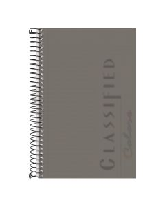 "TOPS™ Poly Notebook, 5-1/2"" x 8-1/2"", Narrow Rule, Graphite Cover, 100 Sheets"