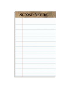 "TOPS™ Second Nature® Recycled Writing Pads, 5"" x 8"", Jr. Legal Rule, 50 Sheets, 12 Pack"