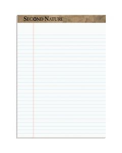 "TOPS™ Second Nature® Recycled Writing Pads, 8-1/2"" x 11-3/4"", Legal Rule, 50 Sheets, 12 Pack"