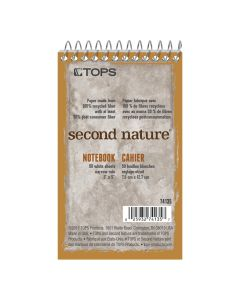 "TOPS™ Second Nature® Recycled Top-Bound Memo Books, 3"" x 5"", Narrow Rule, 50 Sheets"